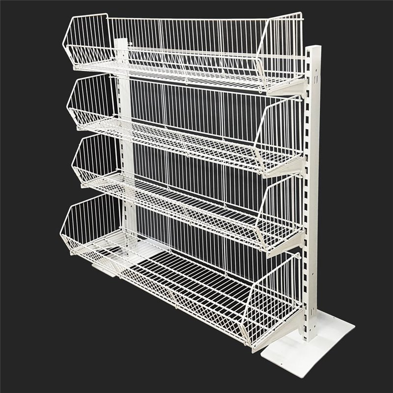 HEAVY DUTY POS Wire Basket Stand
