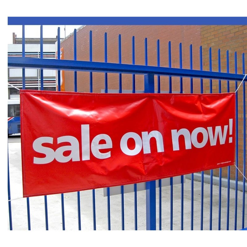 SALE ON NOW! PVC Banner (incl. rope)