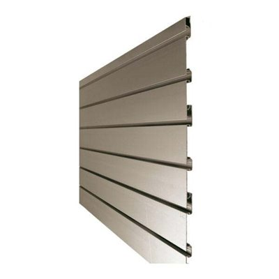 Aluminium Slat Wall Panel 75mm Groove Spacing