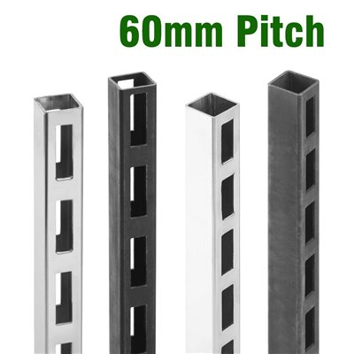 Slotted Post 30x30mm 50mm Pitch
