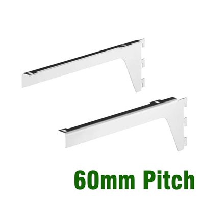 Timber Shelf Bracket Pair 60mm pitch