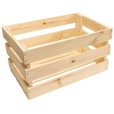 Grocery Display LARGE Wooden crate with spacings