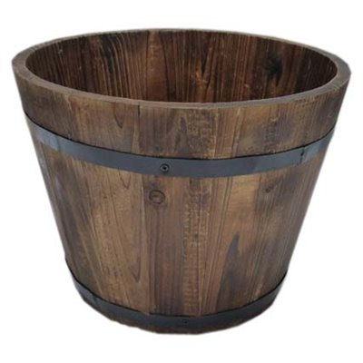 Grocery Display Wood Barrel