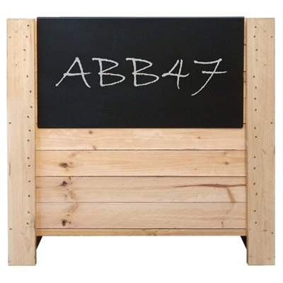 Black chalkboard - hangs on side of produce bin