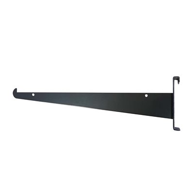 Grid Mesh Bracket 300mm with Hook Black