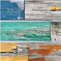 Mixed Old Painted Wood Deco-Slatwall
