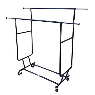 Double Salesman Clothing Rack Black