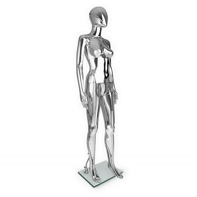 FASHION Female Abstract Mannequin SF2 Plastic CHROME