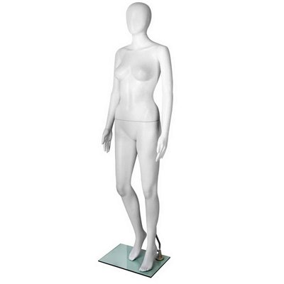 FASHION Female Abstract Mannequin NF Plastic White
