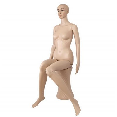 FASHION Female Abstract Sitting Mannequin WF Plastic Skin
