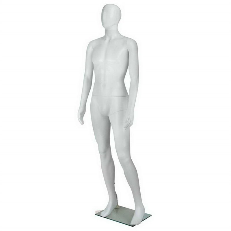 FASHION Male Abstract Mannequin WF Plastic White
