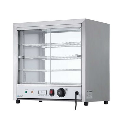 Commercial Food Warmer Pie Hot Display Showcase Cabinet Stainless Steel