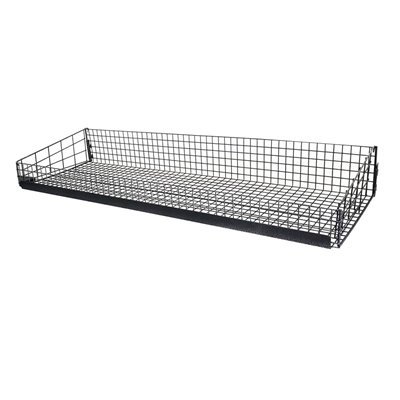 Light Duty Gondola Shelving Wire Basket Black
