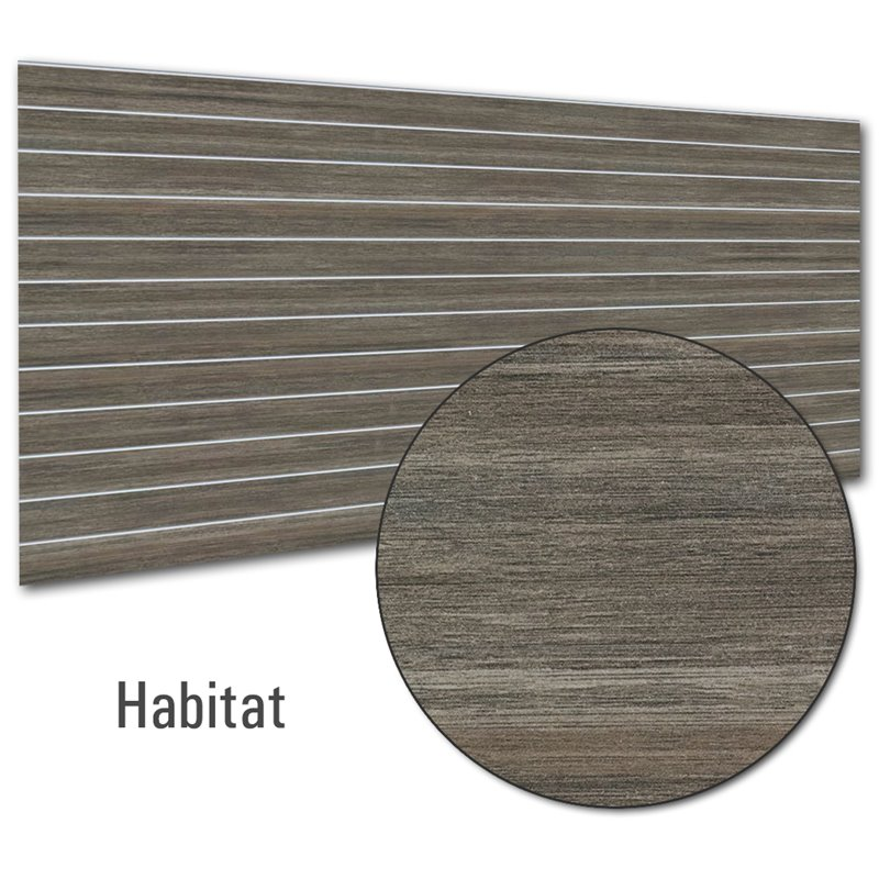 Slat Panel 1200x2400, 100mm Habitat