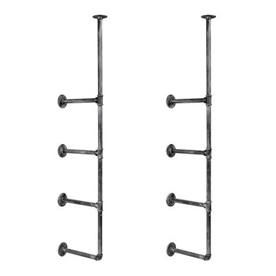 DIY Industrial Pipe Shelf Brackets 4 levels