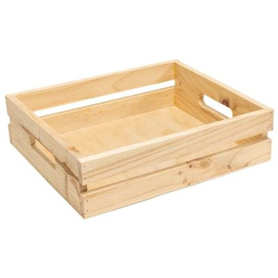 Wooden Crate with Handles