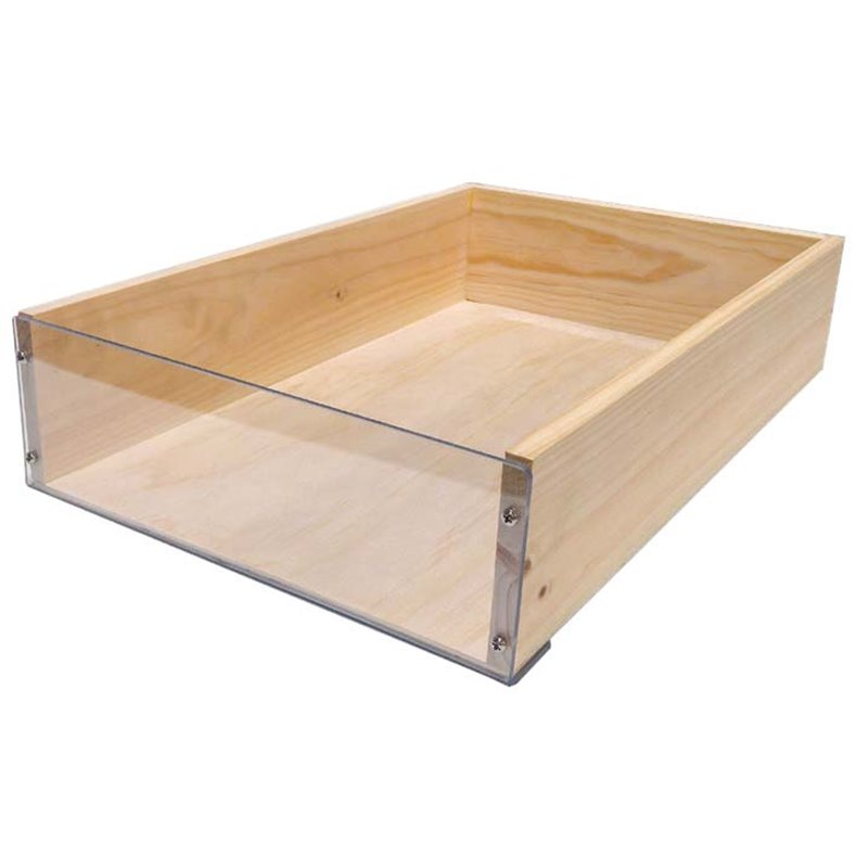 Clear Front Wooden Crate