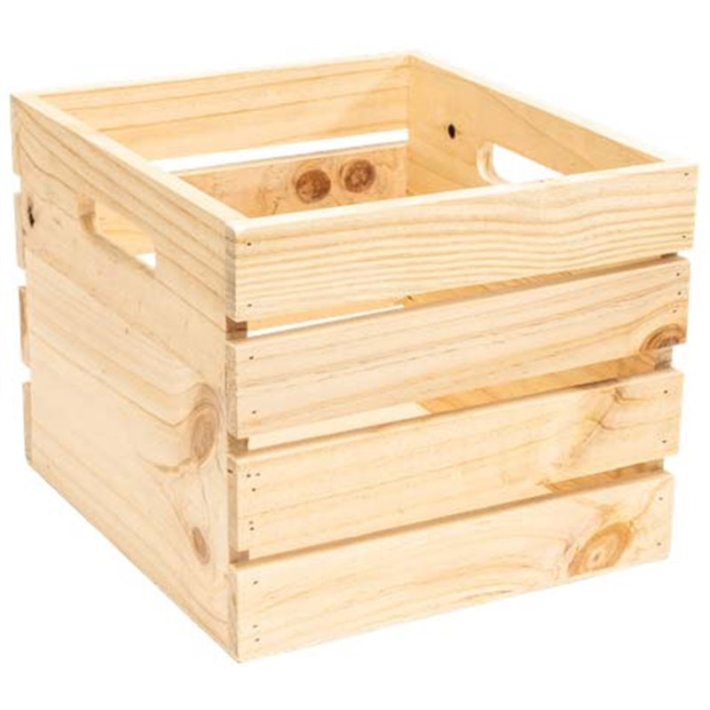 Wooden crate Large with handles