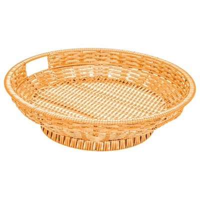 Round Wicker Basket Display