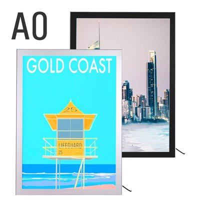 Light Box Sign Holder for Metal Gondolas