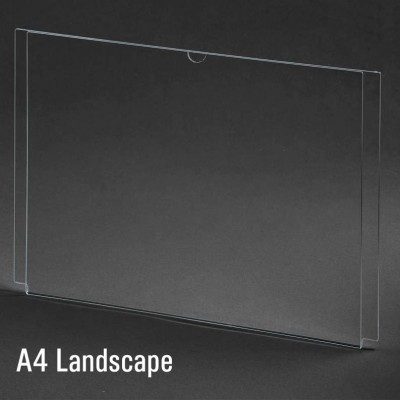 A4 Landscape Acrylic Display Sleeve Sign Holder