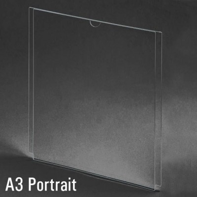 A3 Portrait Acrylic Display Sleeve Sign Holder