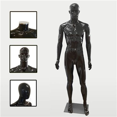 FASHION Mannequin Male SM2 Black Gloss