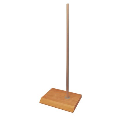 Rectangular Wood Base with pole for Plastic Torso