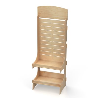 Slatwall Display Stand with 2 Shelves OCEAN