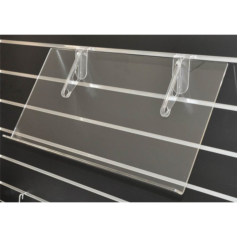 Acrylic Shelf with lip 60 deg