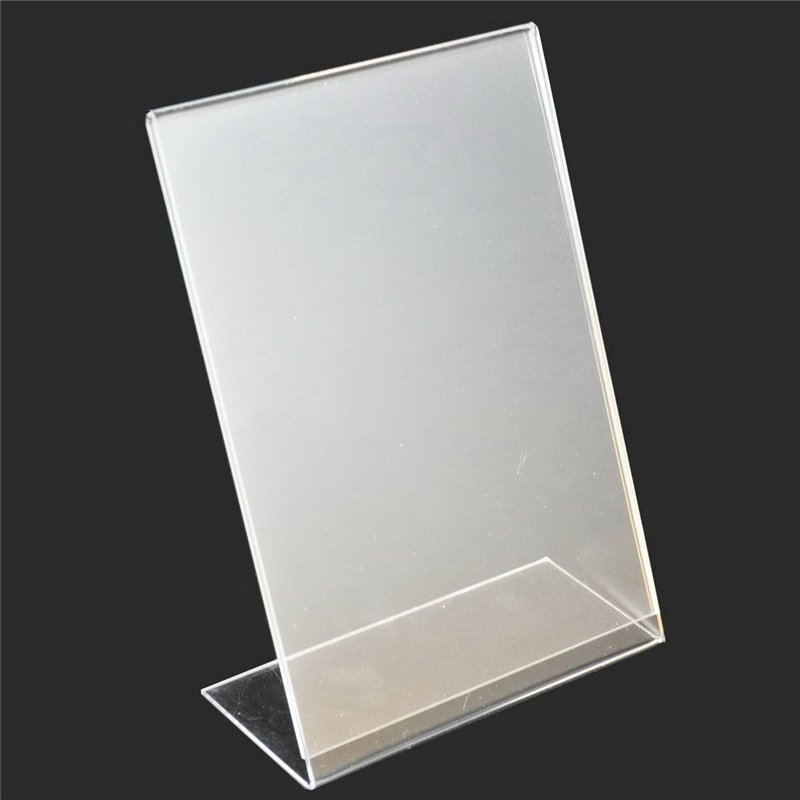 Acrylic Stand Up Angled Sign Holder Portrait