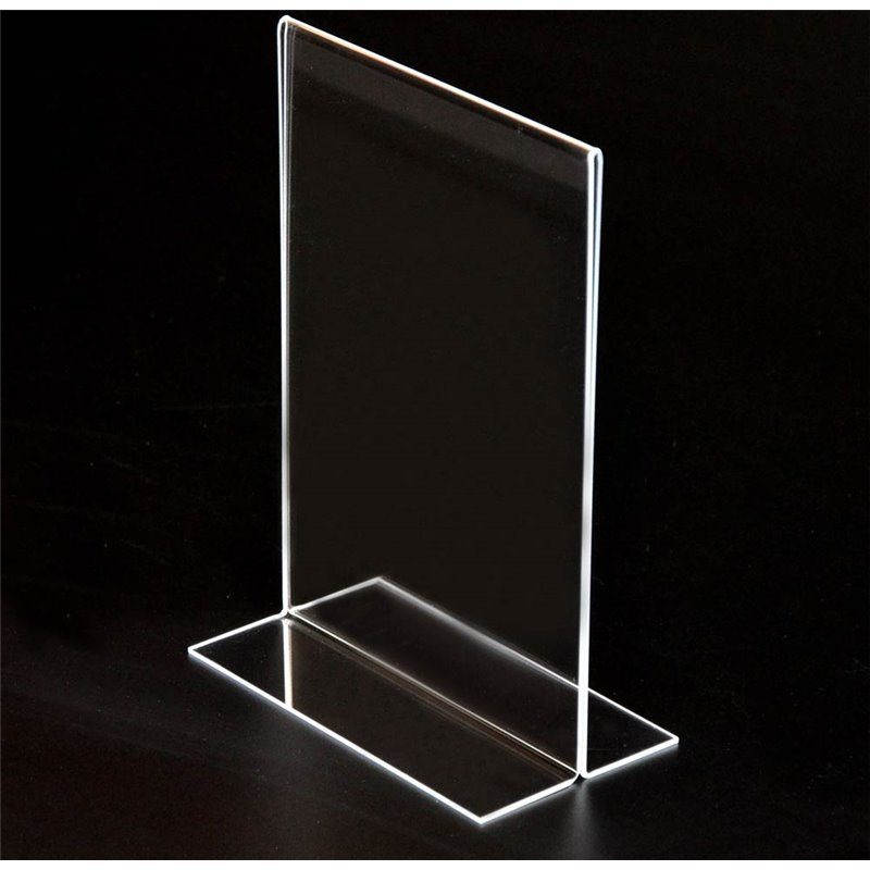 A5/A4 Acrylic Stand Up Sign Holder Portrait