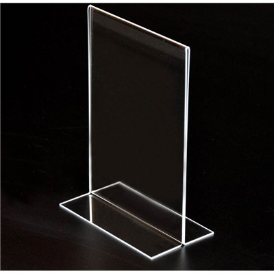 A2 Acrylic Stand Up Sign Holder Portrait