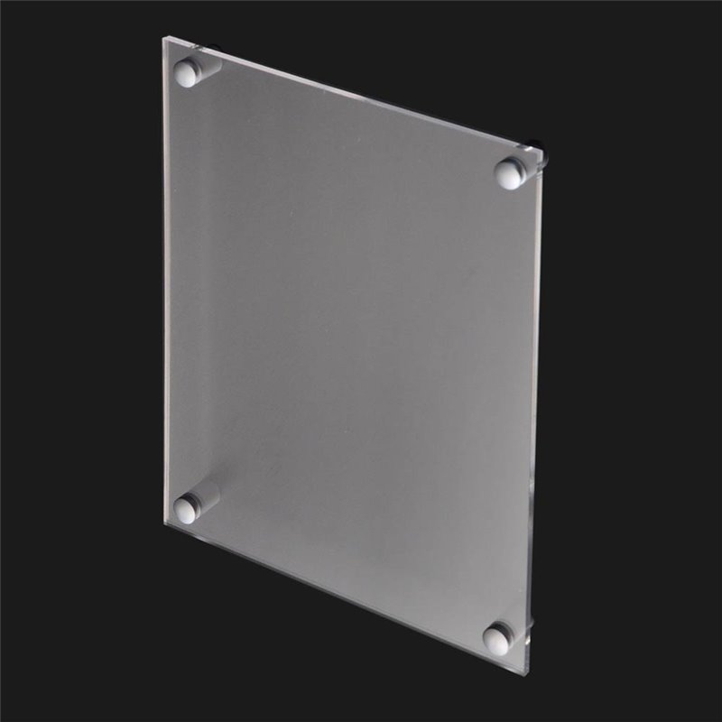 Wall Mount Acrylic Sign Holder with Standoffs A4