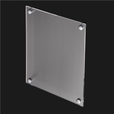 A3 Wall Mount Acrylic Sign Holder with Standoffs