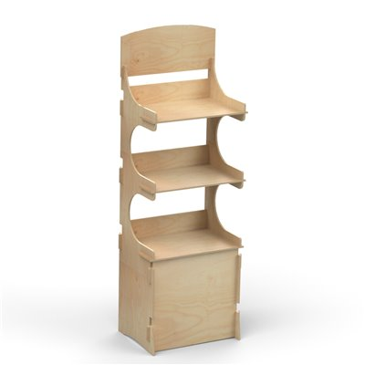 Rustic Shop Shelving Display SYDNEY 4 Tier