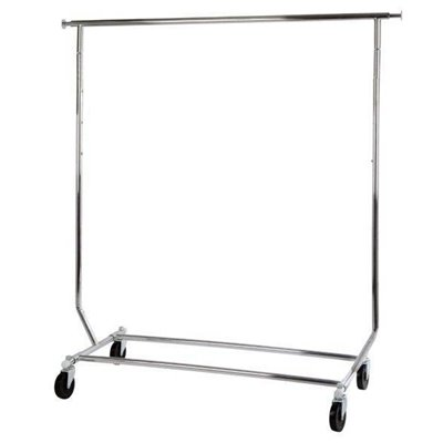 Salesman Clothes Rack Chrome