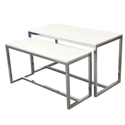 Nesting Tables Set of 2 White