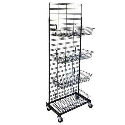 Single or Double Sided Basket Salesman Stand