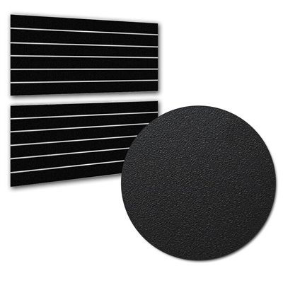Slatwall Panel Black 1200x600 PAIR