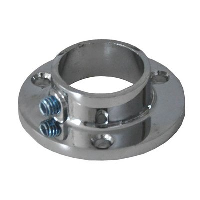 Flange for Round Tube 25mm Small Chrome
