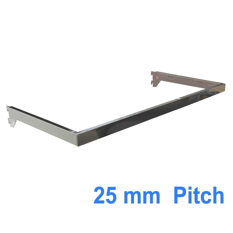 Hang Rail for Wall Strips 25mm pitch Chrome