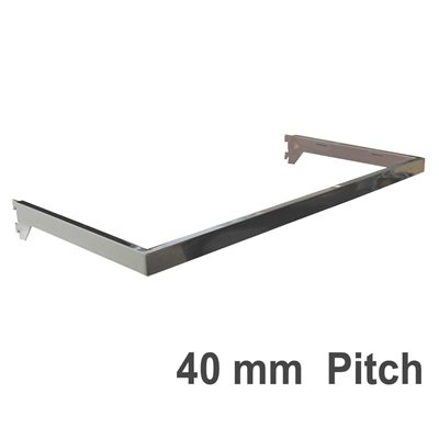 Wall Strip Hang Rail Chrome 40mm Pitch