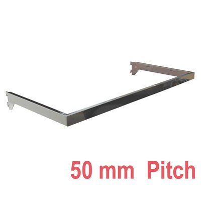 Wall Strip Hang Rail 50mm pitch Chrome