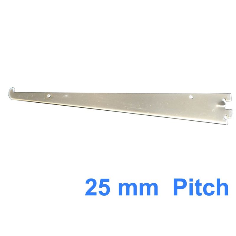 Shelf Bracket for Wall Strip 25mm Pitch CHROME