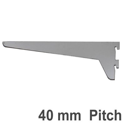 Wall Strip Shelf Bracket 40mm pitch