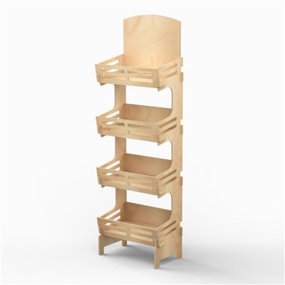 Wooden Shelf Display MARKETA