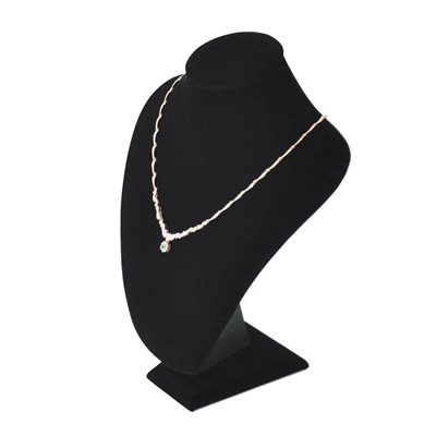 Necklace Display Bust 27cm Velvet Black