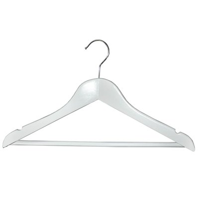 Adult Wood Shirt Hanger White