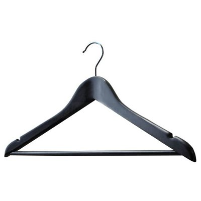 Adult Wood Shirt Hanger Black